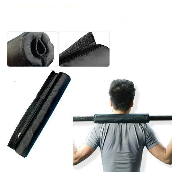 Gogostore Barbell Pad Nylon Oxford Gripper Barbell Squat Protection Pad Fitness Gym Cover Barbells Foam Black By Gogostore.