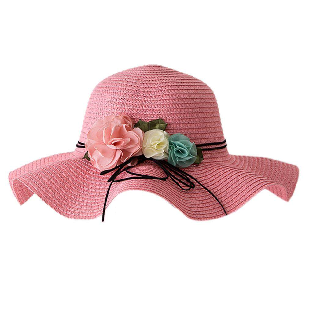 78a27607c [Free Shipping] Summer Baby Flower Breathable Hat Straw Sun Hat Kids Hat  Boy Girls Hats For 2-6 Y