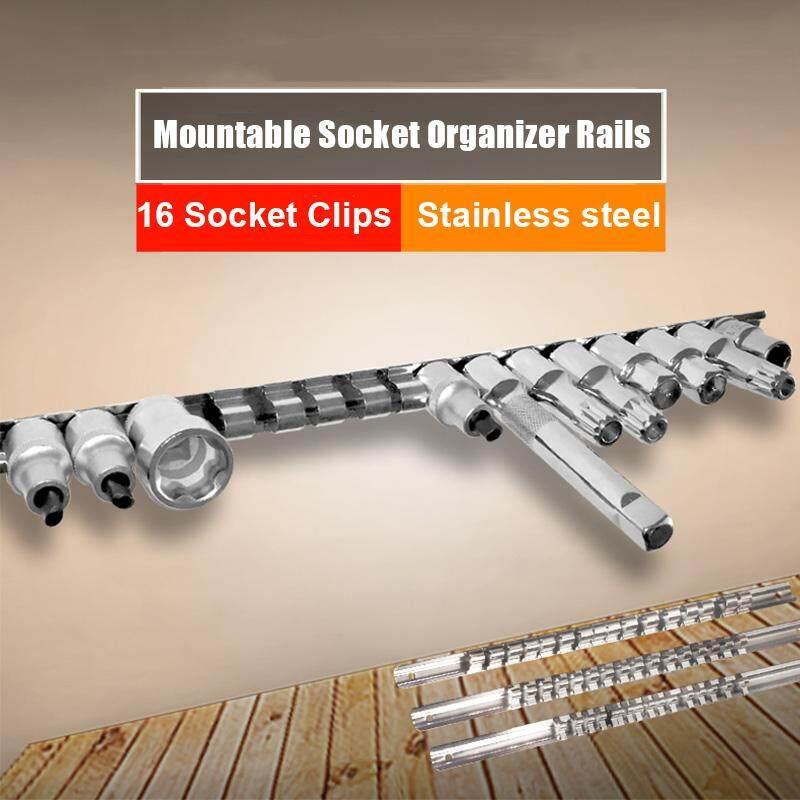 1/2 Mountable Socket Organizer Rails Holder Stainless Steel Clips Tools