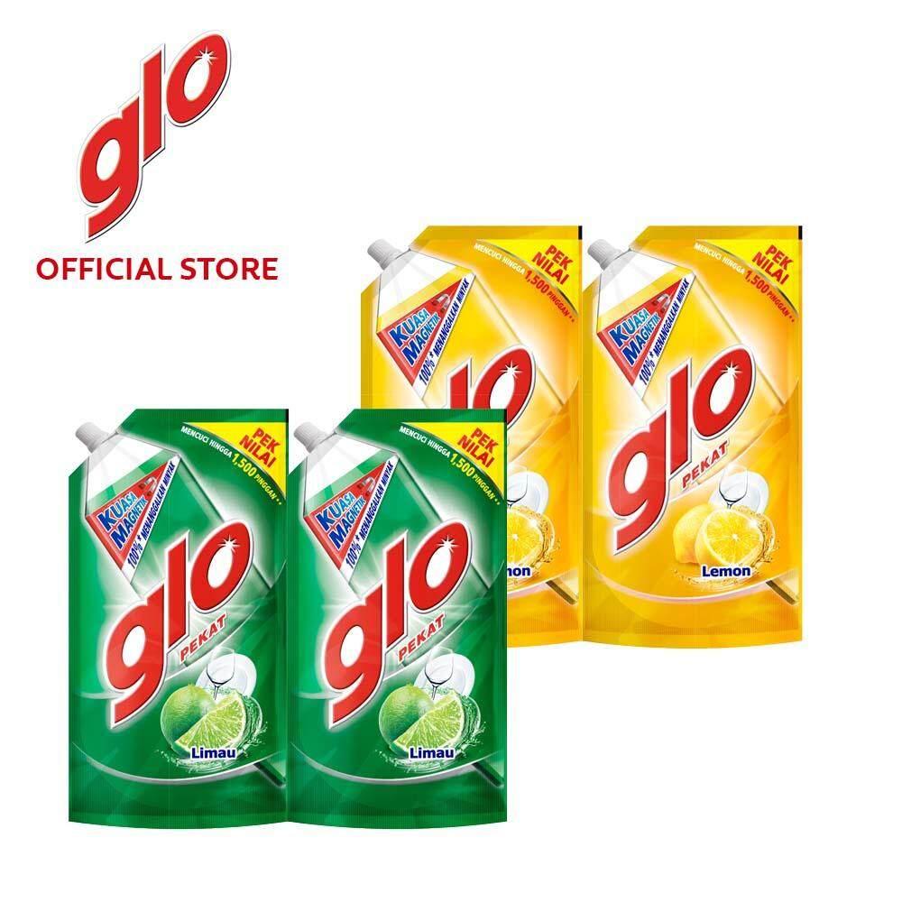 Glo Pekat (Lime + Lemon) Dishwashing Liquid 850ml Refill [Bundle Of 4] Value Deal