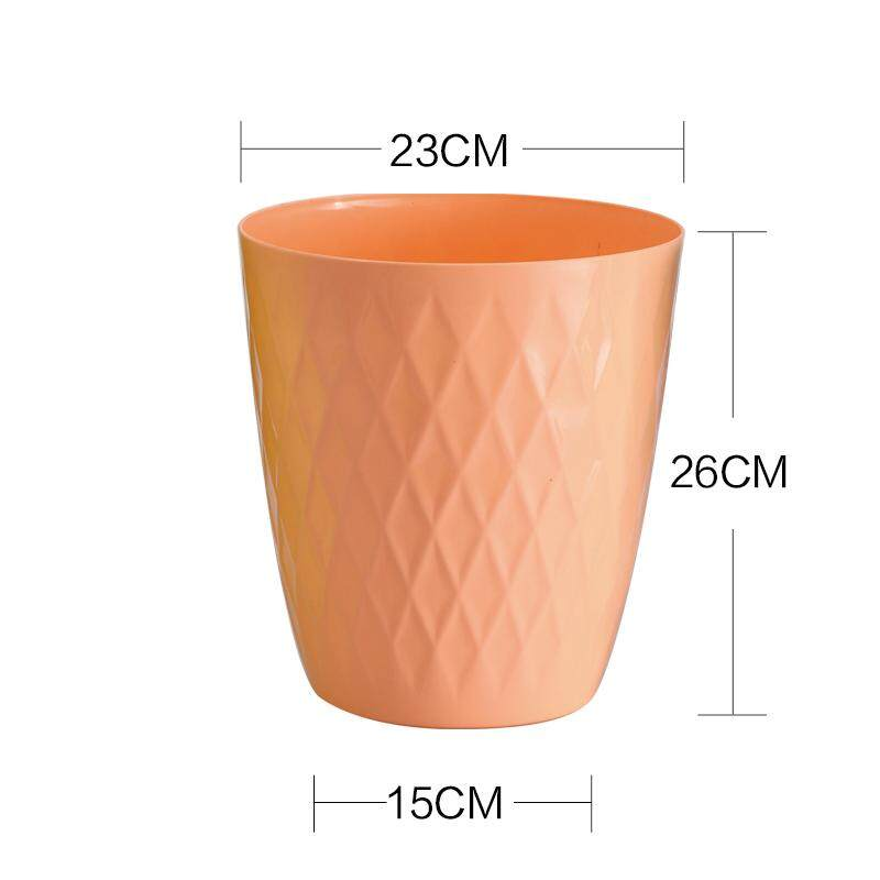 European Style without Cover Garbage Can Fashion Creative Living Room Hotel Household Kitchen Bathroom Garbage Can Trash Can Rhombic