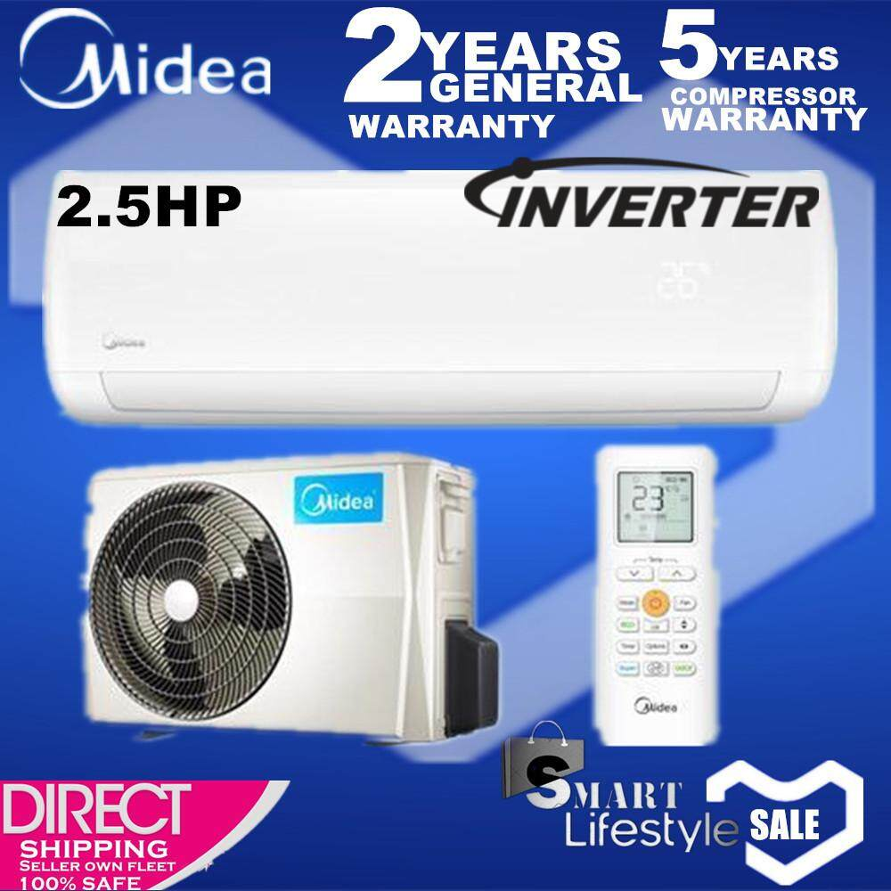 MIDEA 2.5HP Blanc Inverter Series Wall Mounted Air Conditioner MSMA-22CRDN1