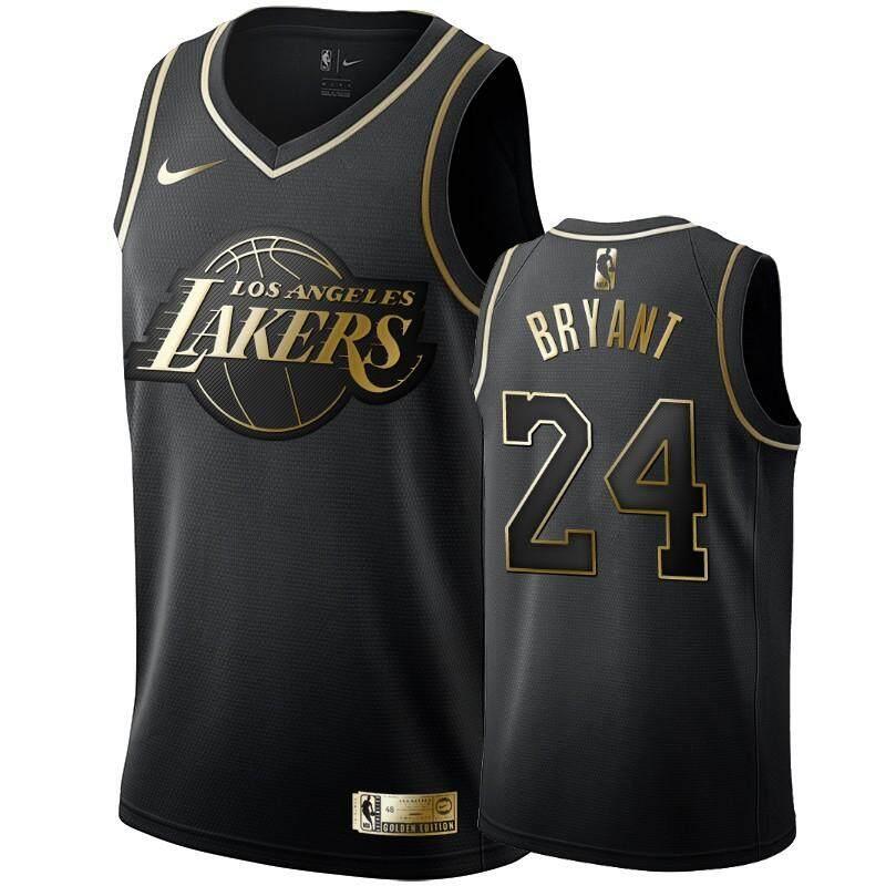 Giá Tiết Kiệm Để Sở Hữu Ngay LeBron_James & Kobe_Bryant Los Angeles Lakers_Nike_NBA Swingman Jersey-Vàng Đen Phiên Bản