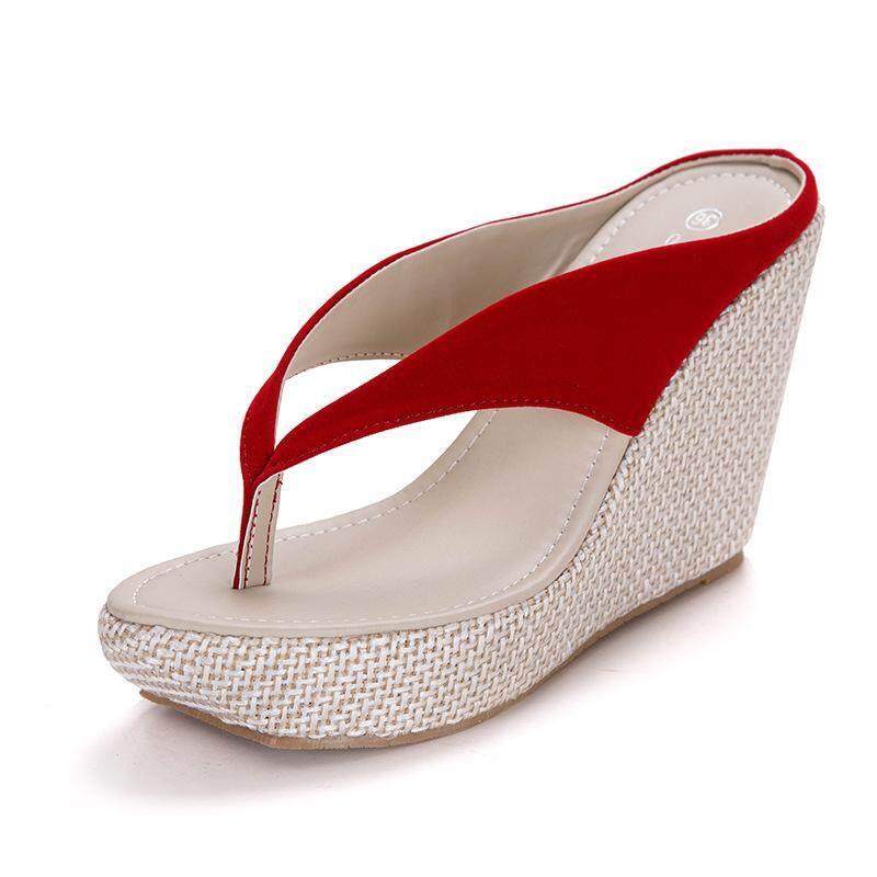 009fcc45d0c6 Bohemian Sandals Large Yard Wedges Flip Flops Slippers Women Sponge Cake  With Thick Bottom 5561