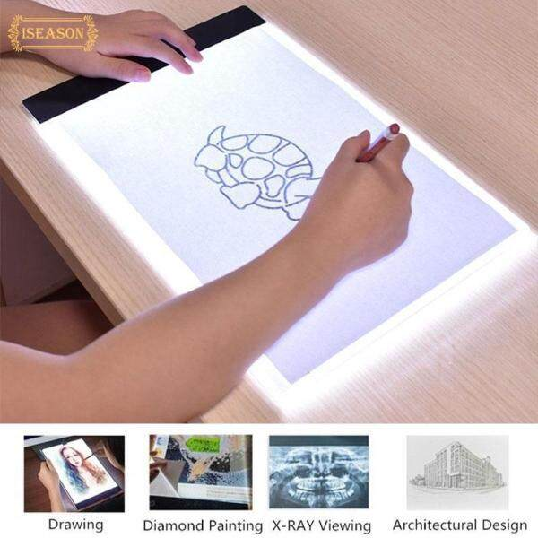 ISM Durable Copy Board Drawing Tablet Tracing Board Acrylic IP65 Luminous A4 Painting Plate LED Art Copy Artcraft Light Box Sketching Tattoo Pads Arts & Crafts Lights