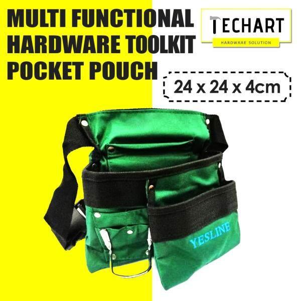 High Quality Multi Functional Hardware Toolkit Utility Pocket Pouch Ornstrument Casganizer Ie Set Waist Strap Tool Bag Nail Bag Dark Green