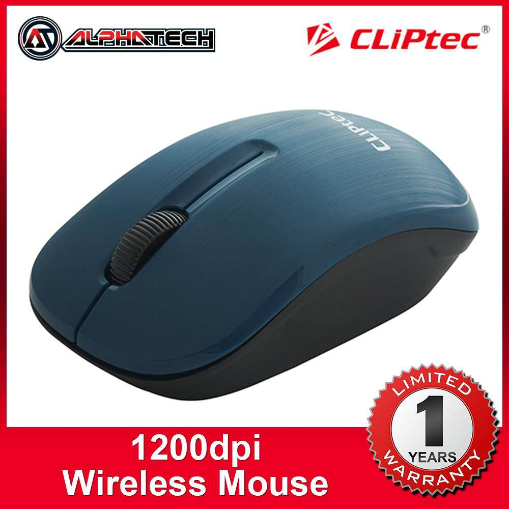 CLiPtec SMOOTHLINE 1200dpi 2.4Ghz Wireless Optical Mouse RZS862 Malaysia