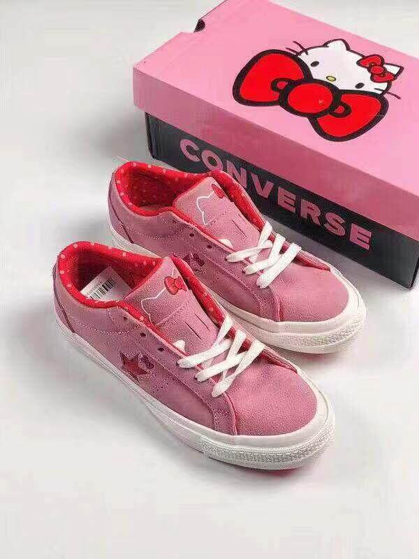 557abb564575 100% Original Converse Hello Kitty Casual Shoes and Women s Shoes