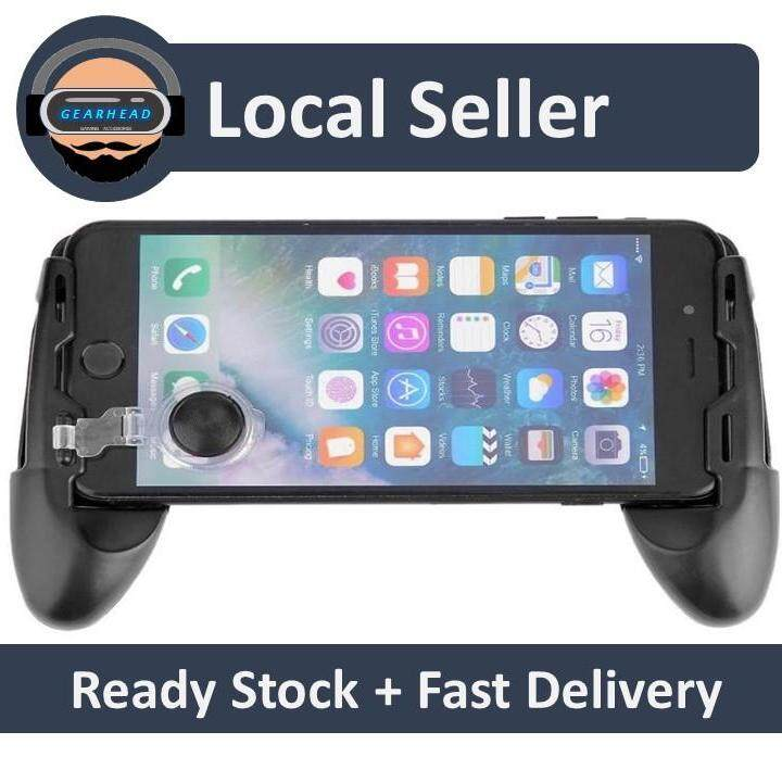 Malaysia Ready Stock - 3 In 1 Universal Game Joystick Controller/ Mini Joystick Grip/stand Bracket For 4.7-6.4 Inch Phone By Gearhead Gaming Accessories.