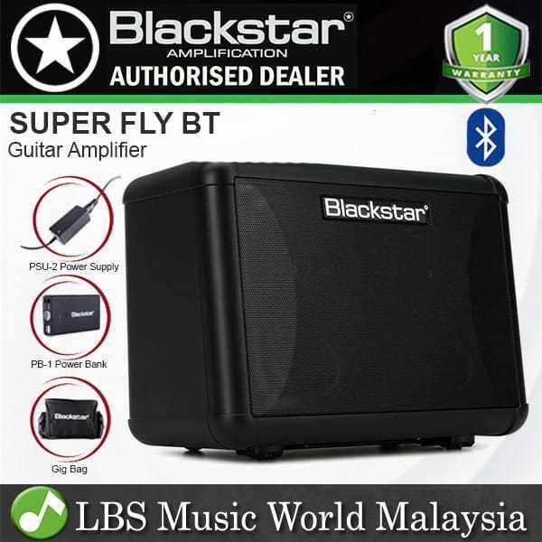 Blackstar Super Fly BT Pack 12 Watt 2 Channel Battery Powered Bluetooth Guitar Amp Amplifier Malaysia