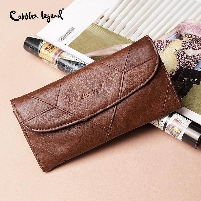 f0ab15a4f4de Cobbler Legend Genuine Leather Women Wallet Small Female Coins Purse Clutch  Bag Designers Brand Long Wallet Slim Patchwork