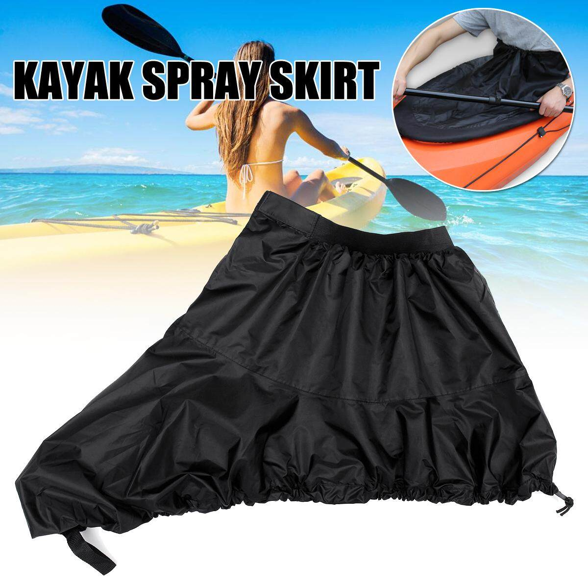 XL Kayak Spray Skirt Cover Canoe Cover Oxford Cloth Waterproof Anti-UV Sun