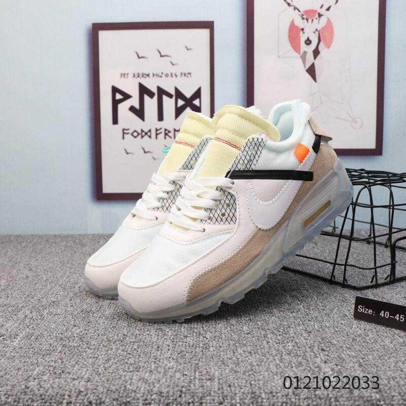 สตูล Nike_x off-white Air_Max_90 OW men s fashion casual running shoes