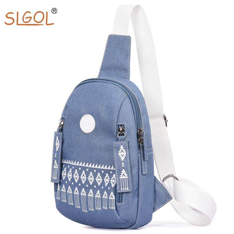 Canvas Sling Backpack Outdoor Sports Chest Bag Sling Backpack Lightweight for Women Girls by SLGOL-direct