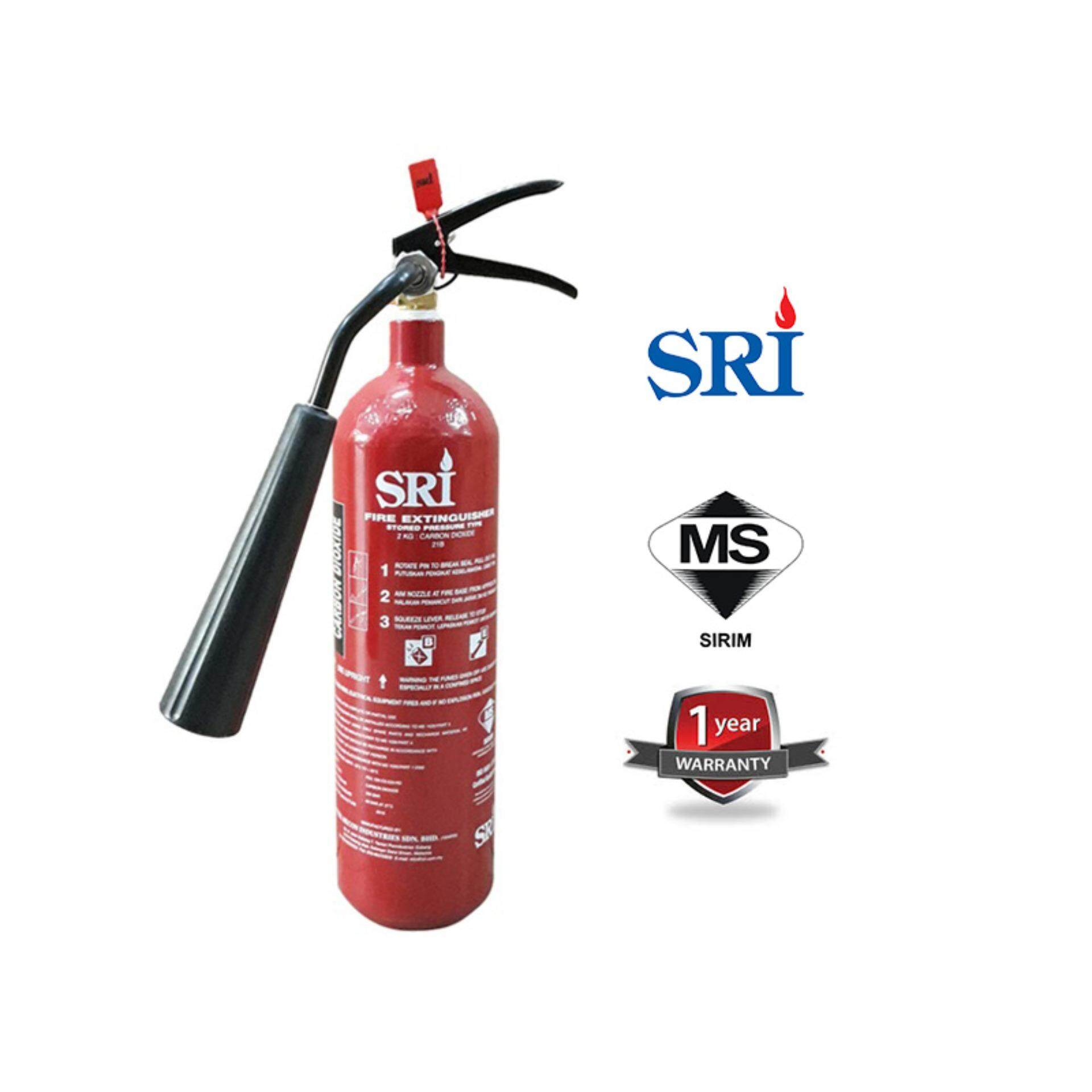 EzSpace Sri 2kg Carbon Dioxide CO2 Fire Extinguisher Sirim Approved Year 2019 Production Suitable For Electrical Board Server Room Pemadam Api