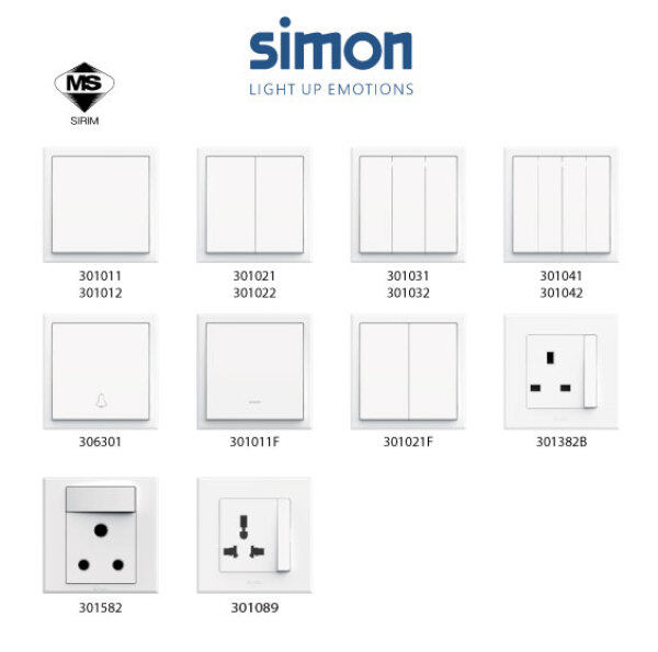 Simon E3 Series Switch  / Switches & Socket Outlet