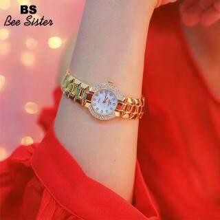 BS Bee Sister Đồng hồ kim cương đeo tay 1312 cho nữ dây đồng hồ bằng thép không gỉ đính đá toàn mặt kiểu Hàn Quốc thời thượng - INTL thumbnail