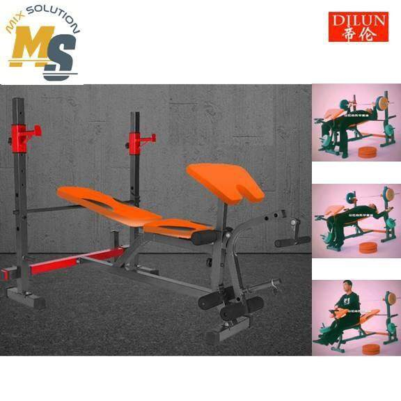 [high Quality] Multifunctional Gym Weight Lifting Bench Squat Rack Barbell Bench By Mixsolution.