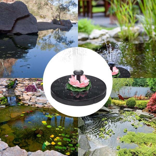 Solar Powered Energy Fountain Pump Kit Water Pump Set with DIY Fountain Pump for Outdoor Birdbath Fish T-ank Pond Garden Patio Lawn Pool