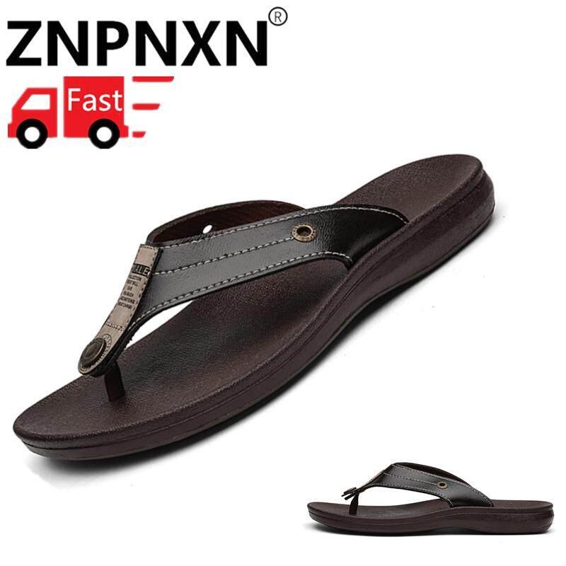 de3cf8e0efcb ZNPNXN Stylish men s flip-flops beach shoes Comfortable foot clip design  wear-resistant non