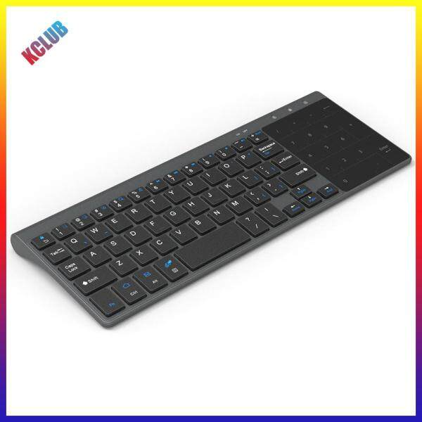 2.4GHz USB Receiver Ultrathin Wireless Keyboard w/ Touch Numeric Pad for PC Singapore