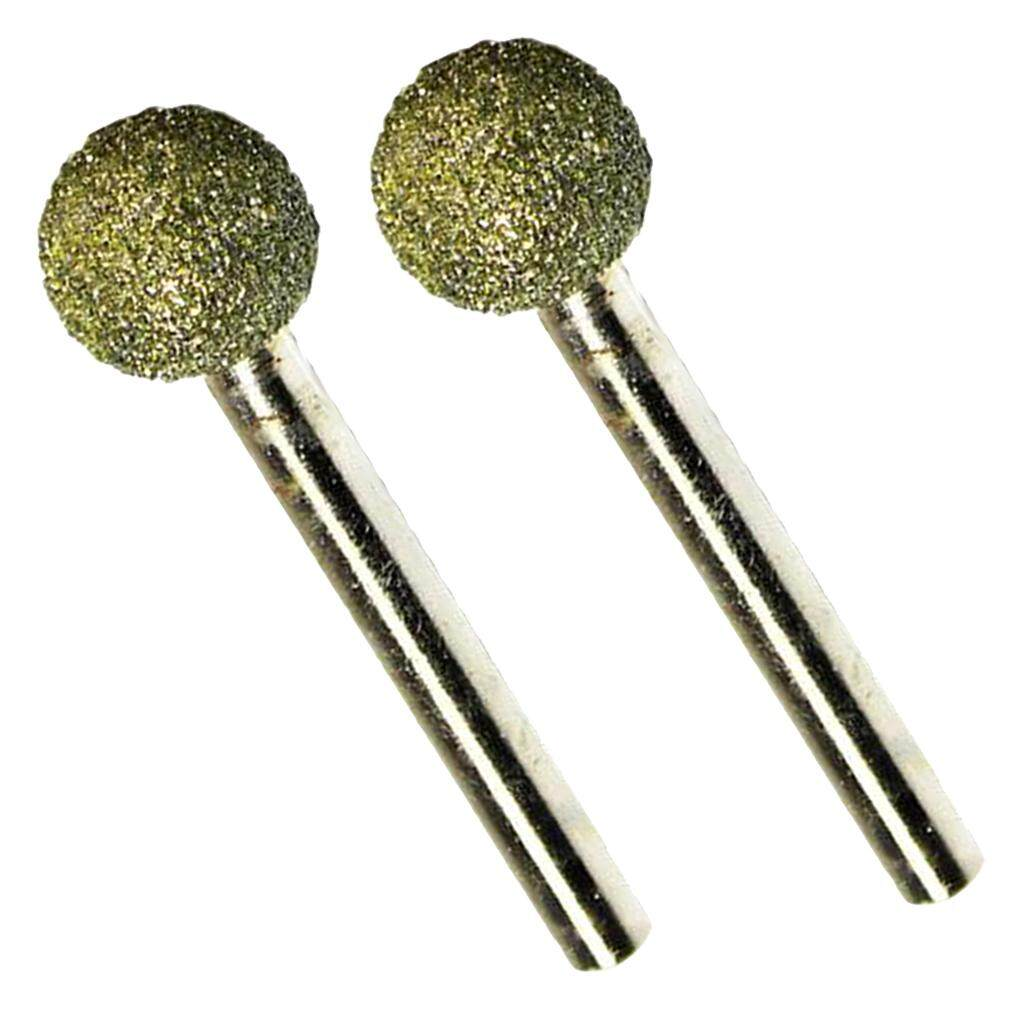 BolehDeals 2pcs Diamond Coated Head Mounted Points Grinding Bit Abrasive 46 Grit 18mm
