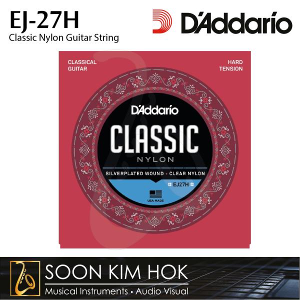 DADDARIO EJ-27H Classic Nylon Guitar String (.0285 .0327 .0409 .030 .036 .044) (EJ27H) Malaysia