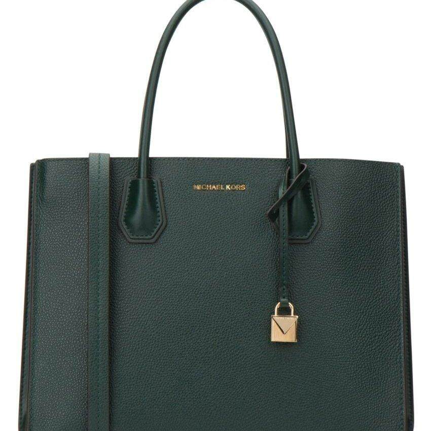 0bf8bf5395afc6 Michael Kors Mercer Large Pebbled Leather Tote - Racing Green 30F8GM9T3T-305