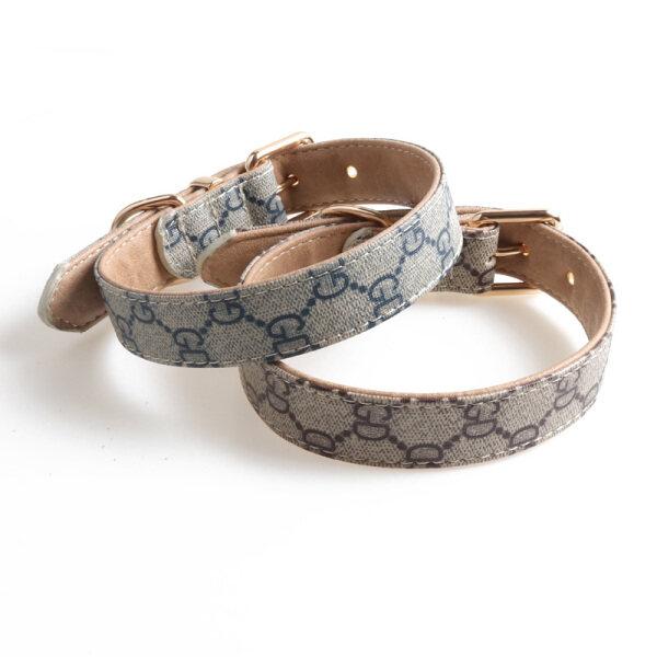 Jainjia28 thương hiệu thời trang in Dog Collar Dog Leash cho vật nuôi nhỏ và chó lớn điều chỉnh shih tzu cổ áo Labrador Golden Retriever Dây Xích