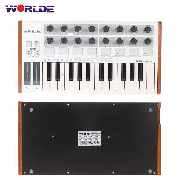Worlde Ultra-Portable Mini Professional 25-Key USB MIDI Drum Pad and Keyboard Controller Malaysia