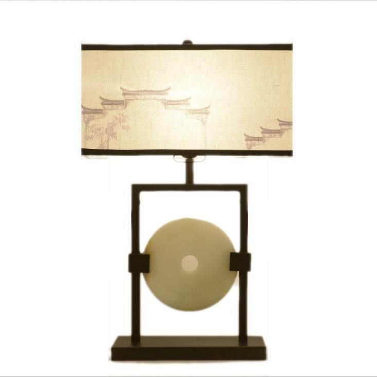 MumoLight Chinese Series Black Iron with Jade Design 25*62cm Table Lamp