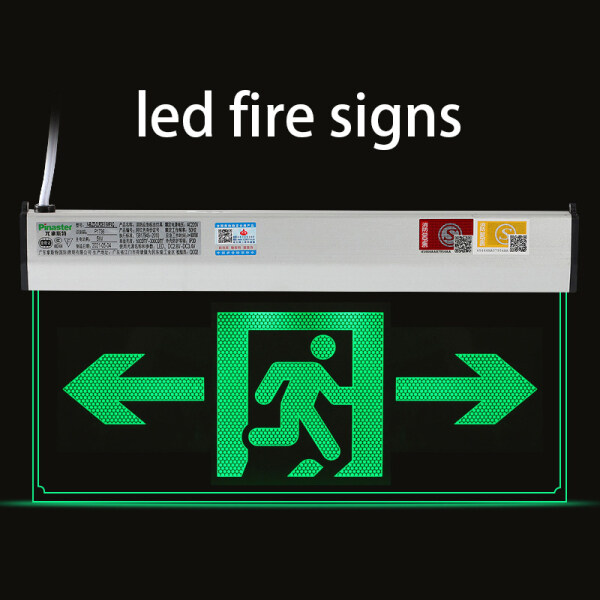 Bảng giá 6W 220V Factory Workshop Fire Emergency Indicator Light Multi-purpose Led Fire Emergency Passage Evacuation Sign, Shopping Mall Safety Exit Fire Sign