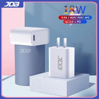 JDB Bộ Sạc USB C Nhanh 18W Bộ Sạc Tường Giao Hàng Điện PD Type C QC3.0 QC2.0, Tương Thích Với iPhone 12 11 11 Pro 11 Pro Max XS XR X 8, iPad Pro thumbnail