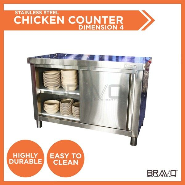 BRAVO [SMALL] Stainless Steel DIY Cabinet Storage Kitchen Equipment With Sliding Door Very Strong and Sturdy