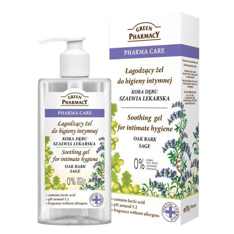 Green Pharmacy Intimate Hygiene Gel - Oak Bark Sage
