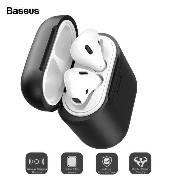 Baseus Phụ kiện sạc không dây cao cấp cho Airpods Phụ kiện bảo vệ silicon cho Apple Airpod