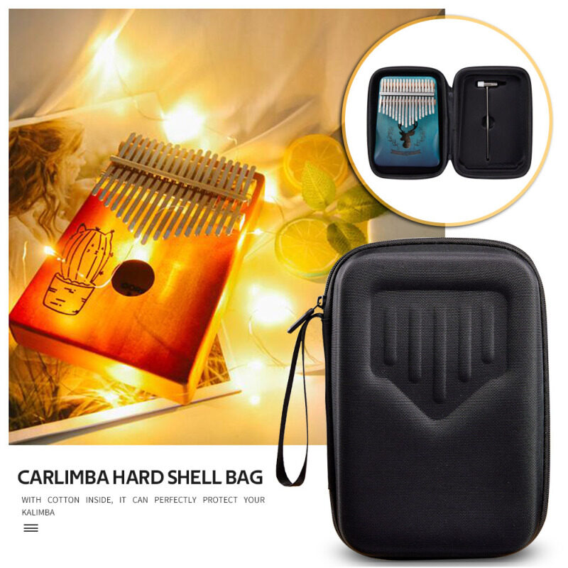 【welcomehome】Portable Storage Bags for 10/17 Keys Kalimba Thumb Finger Piano EVA Hard Shell Carrying Case Malaysia