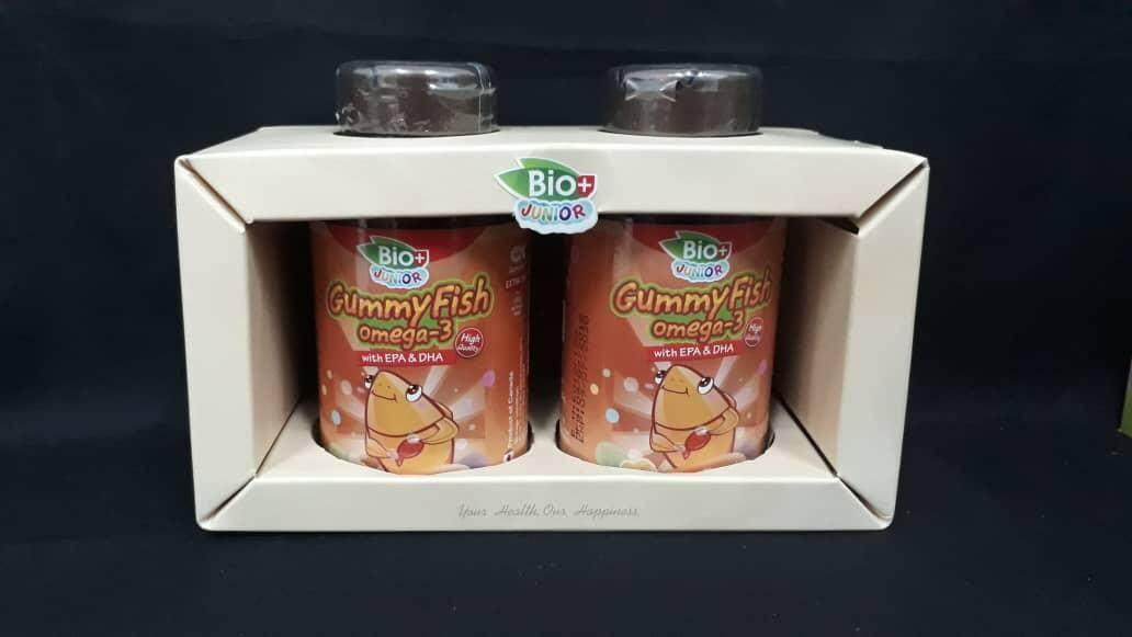 Bio+ Junior Gummy Fish Omega-3 2 X 80s (buy 1 Free 1) By Happy Pharmacy.