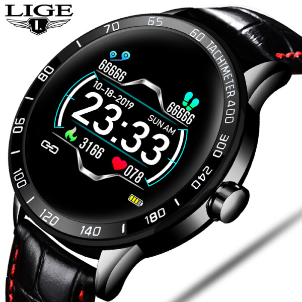 LIGE New Sports Smart Watch Fitness Watch heart rate blood Pressure Monitor Pedometer for Android ios Active Jam Watch for man Malaysia