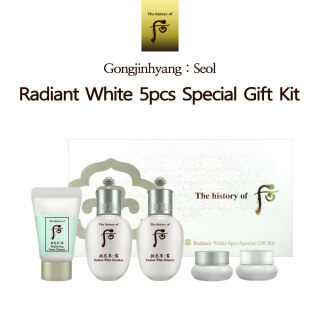 Sejarah Whoo Gongjinhyang Seol Radiant White 5 Buah Kit Hadiah Khusus Radiant White Balancer 20Ml Emulsi 20Ml Krim Pelembap 4Ml Pembersih Busa 13Ml thumbnail