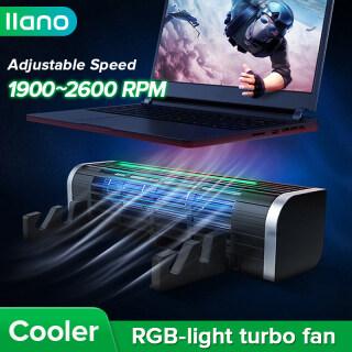 Giá Đỡ Tản Nhiệt Đa Năng RGB, Đế Làm Mát Turbo Có Thể Điều Chỉnh Kích Thước, Tốc Độ Gió, Dùng Cho Máy Tính Xách Tay, Ipad Và Điện Thoại thumbnail