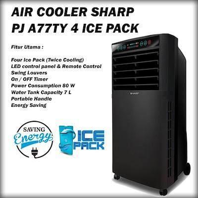 Sharp Air Cooler 80W (Black) PJA-77TV