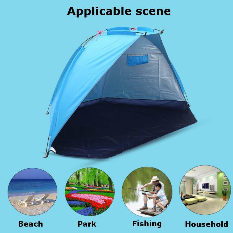 【Free Shipping + Flash Deal】 W+1 Pop Up Portable Beach Canopy Sun Shade Shelter Outdoor Camping Tent Sunshade Fishing Umbrella Large Tent Anti-UV
