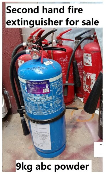 New Fire Extinguisher unit 9KG ABC powder with Bomba License registered(Resell Unit)