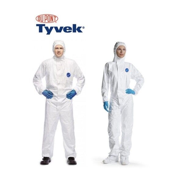 Disposable Coverall Protective Suit DUPONT TYVEK 400 dupont PROSHIELD for Medical Sanitizing Work Pest Control and Industry Work for travel on aeroplane or flight Isolation Jump suit tyvex taivek dupon taivek
