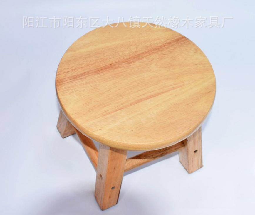 Solid Wood Small Round Stool Small Wooden Stool Bathroom Bench Short Stool