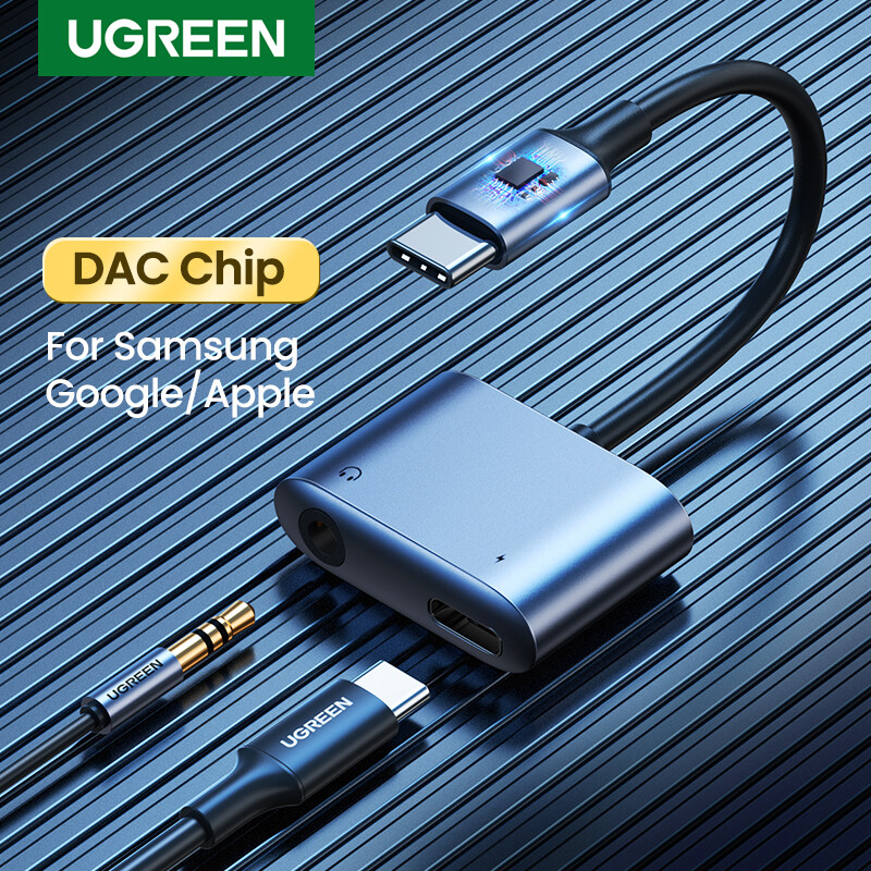 UGREEN 2-in-1 USB C to 3.5mm Adapter For Samsung Galaxy Note 20/Samsung Note 10/Note10+ Ipad Pro 2020/2018 Singapore