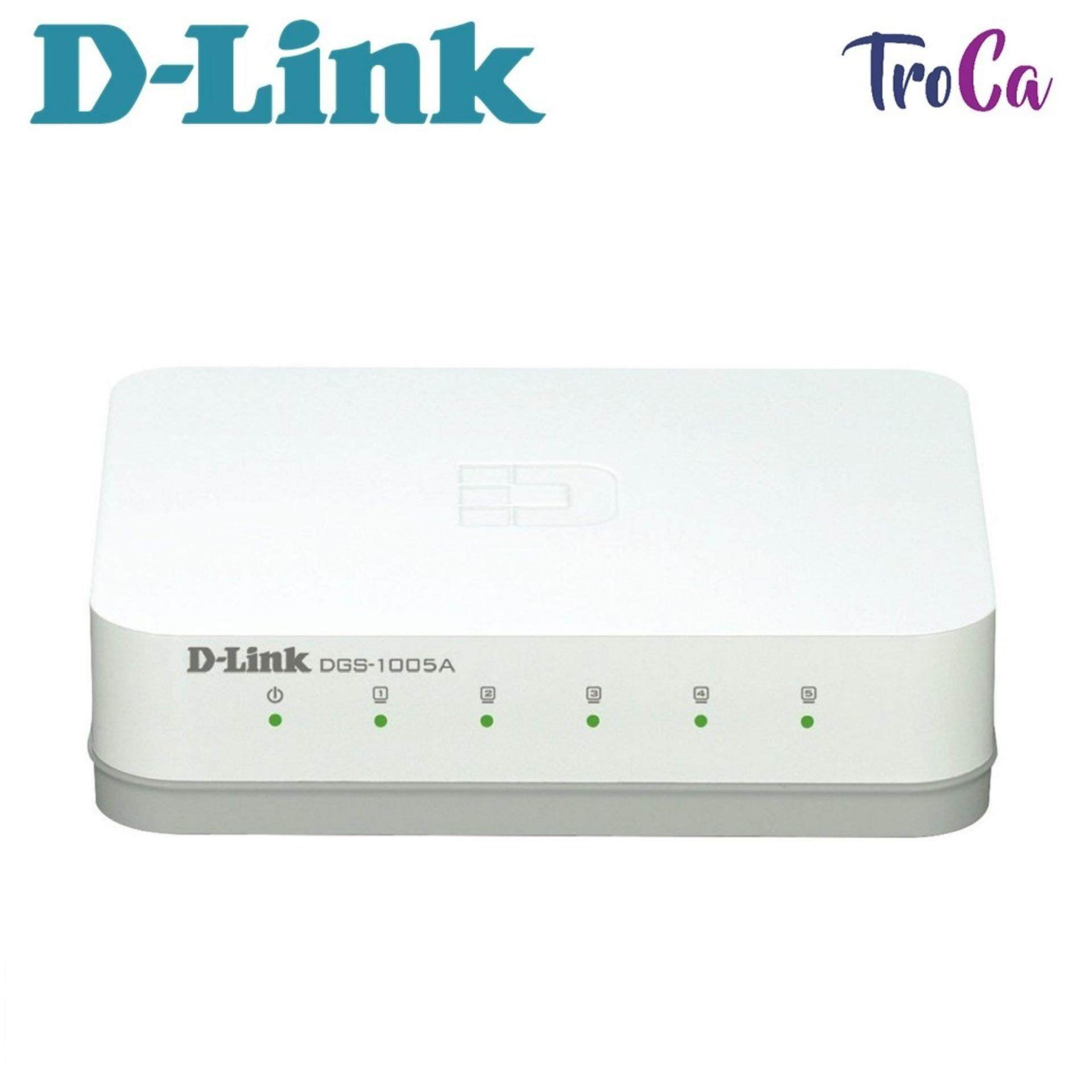 67080e092 D-LINK 5 Port 10 100 1000Mbps Gigabit Desktop Ethernet Switch DGS-