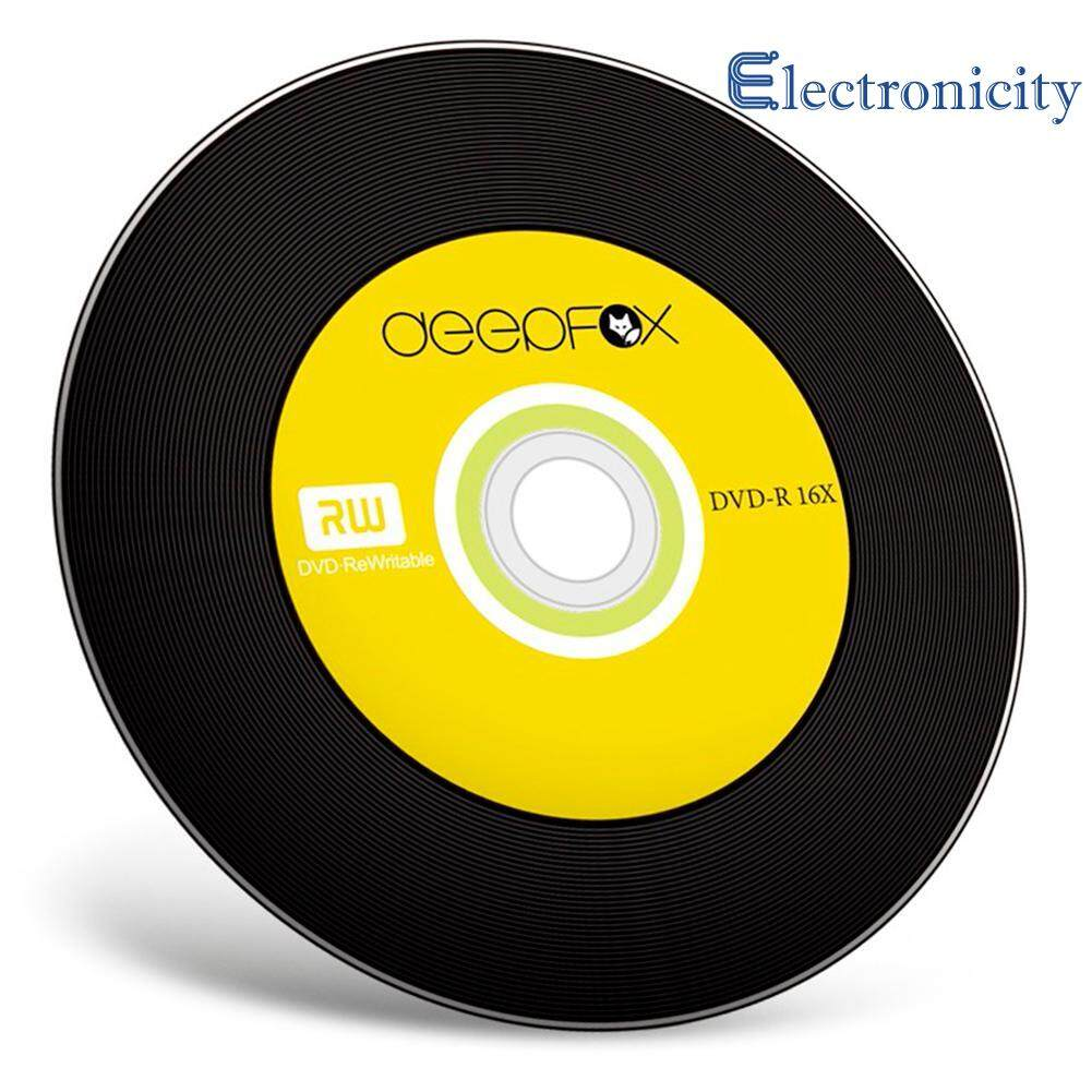 {electronicity}10pcs 4.7GB DVD-R Blank Disc Data Video Storage 16X Recording Speeds DVD Black Disk