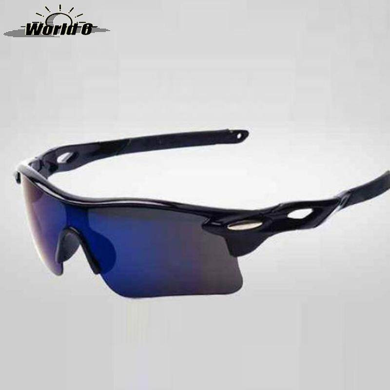 RockBros Cycling Sunglasses Anti-dazzle Sport Glasses Goggles 1 Lense UV400 Blue